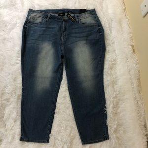 NWT Lane Bryant Style Fix Denim Capri Pants Sz 22